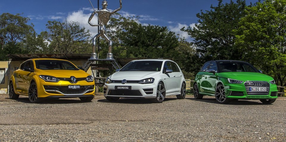 Audi S1 v Renault Megane RS275 Trophy v Volkswagen Golf R : Comparison review