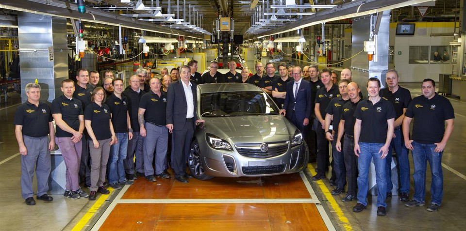 Holden Insignia VXR production commences