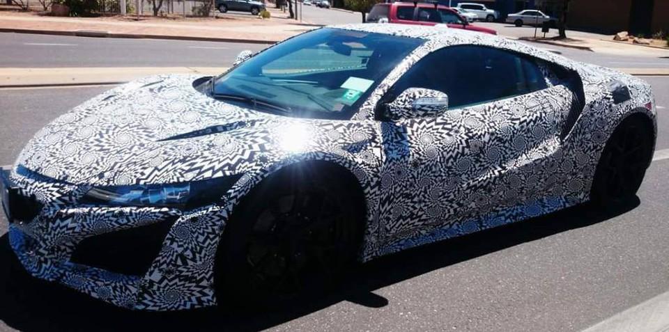 Honda NSX spied testing in Australia — UPDATED