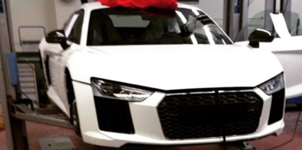 New Audi R8 photographed undisguised ahead of March debut