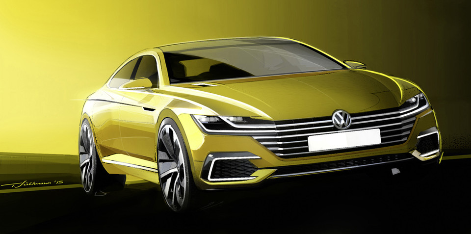 Volkswagen Sport Coupe Concept GTE sketches out new VW design language
