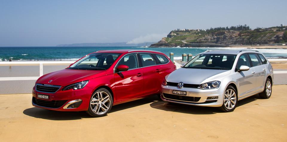 Peugeot 308 Touring v Volkswagen Golf Wagon : Comparison review