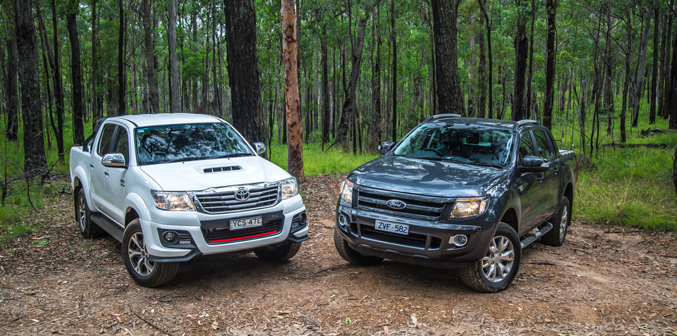 Ford Ranger Wildtrak V Toyota HiLux Black Edition Comparison Review