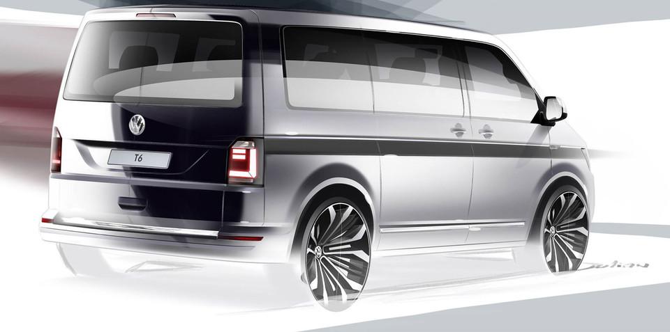 Next-gen Volkswagen Transporter teased ahead of April 16 unveiling