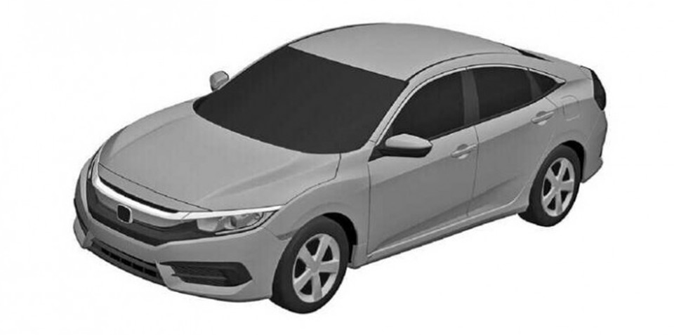 Next-generation Honda Civic sedan, coupe revealed in patent images