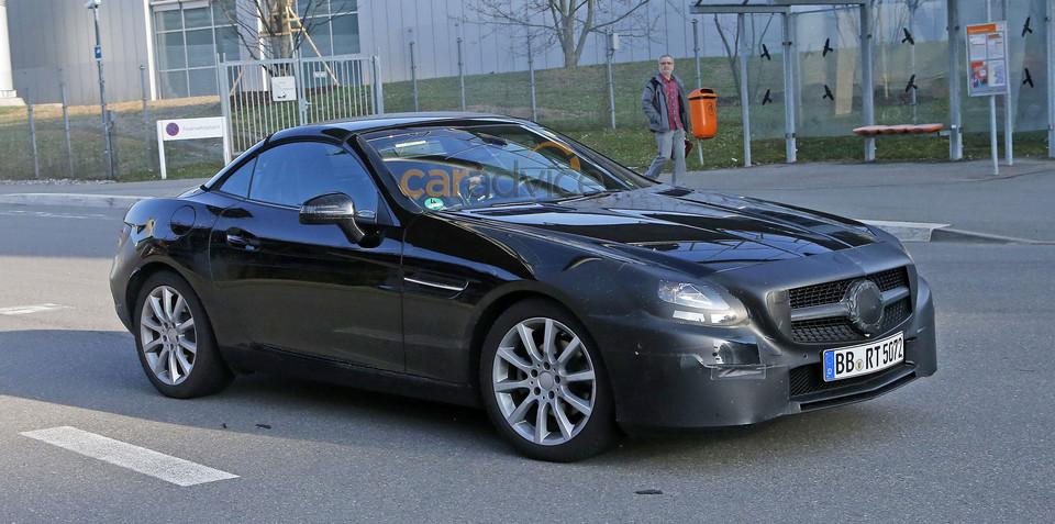 Mercedes-Benz SLK facelift spy photos