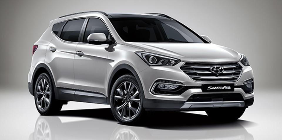 Hyundai Santa Fe facelift unveiled in Korea
