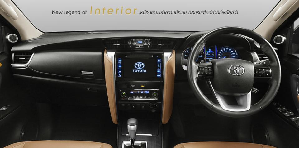 2016 Toyota Fortuner interior revealed for Thai market