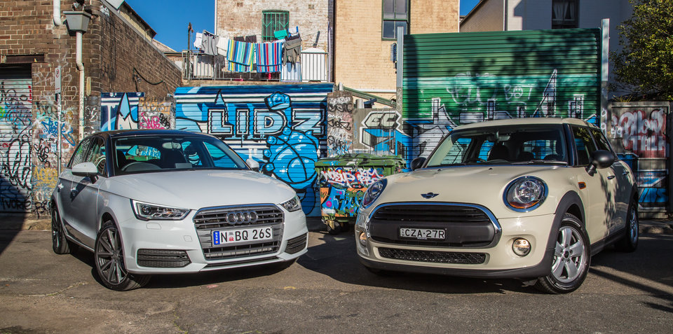 Audi A1 Sportback 1.0 TFSI v Mini 5 Door One : Affordable premium hatchback comparison test