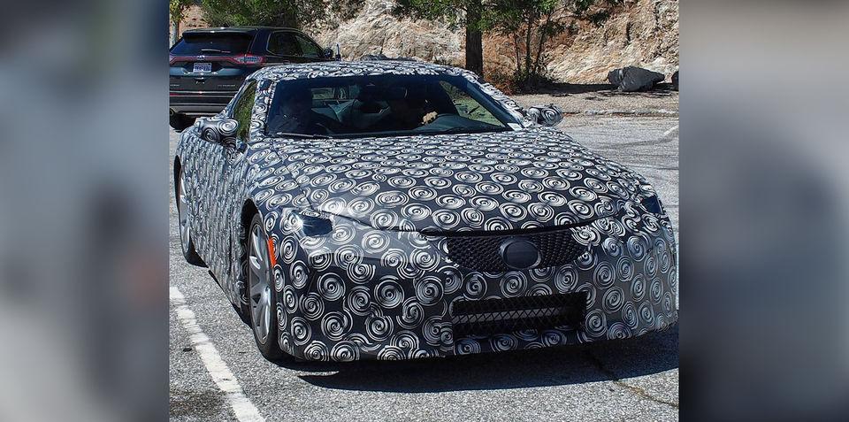 Large Lexus coupe's front-end photographed