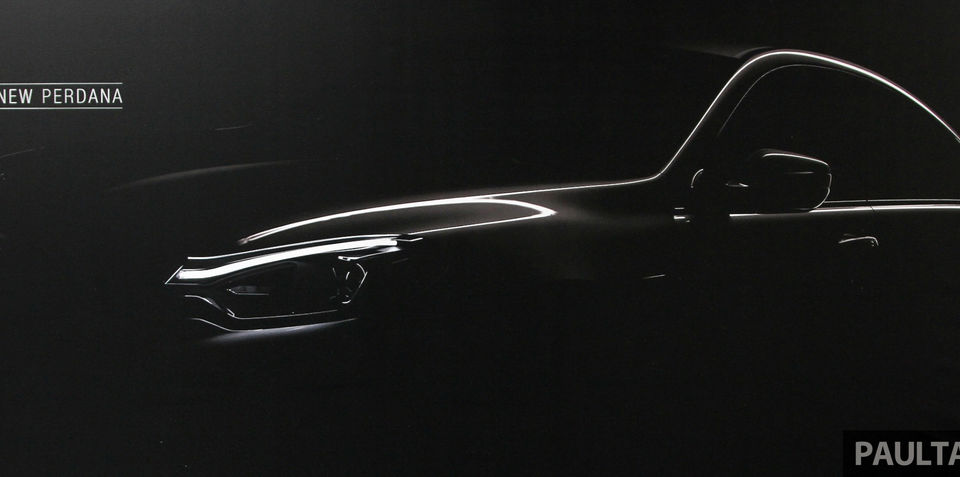 New Proton Perdana sedan teased in Malaysia: Sleek styling on old Accord base