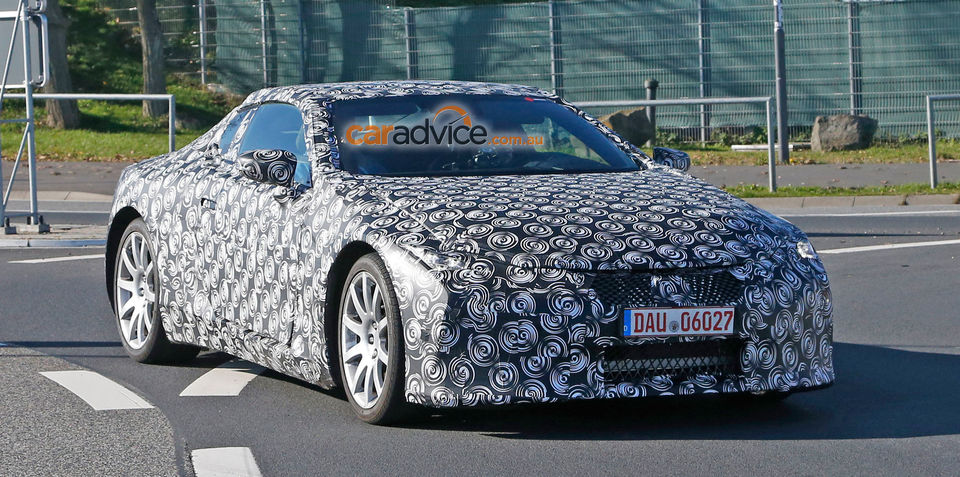 Lexus flagship coupe spy photos from around the Nurburgring