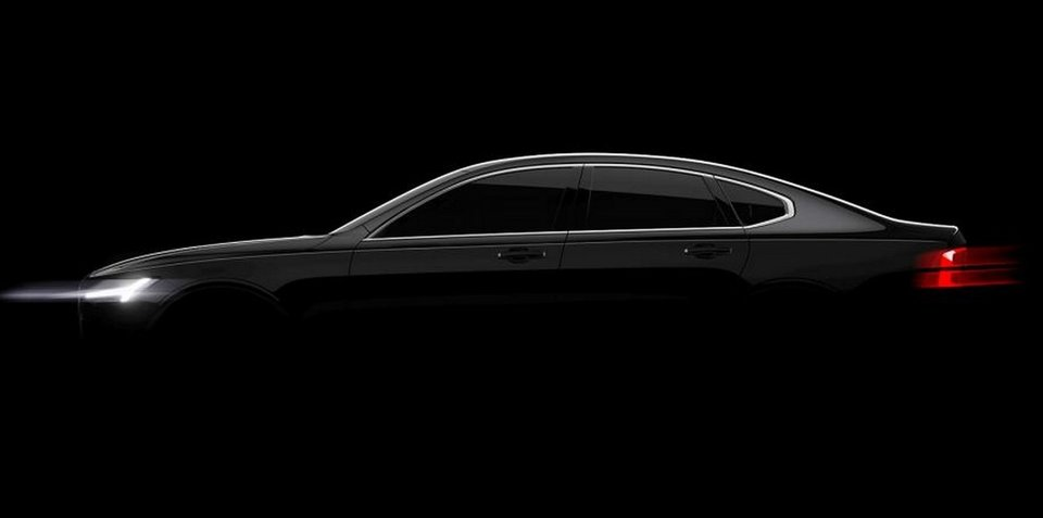 Volvo S90 sedan previewed ahead of Detroit debut