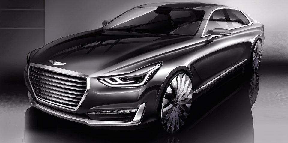 Genesis G90 :: Hyundai teases new S-Class rival
