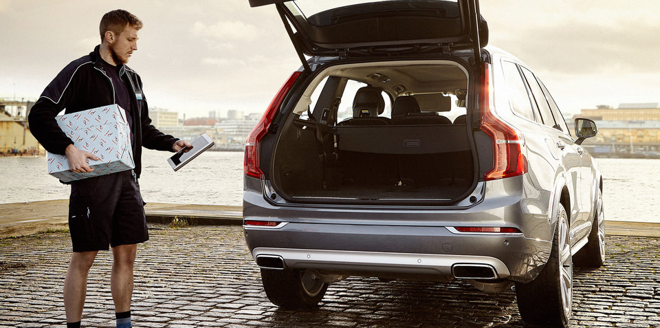 Volvo launches in-car delivery service in Sweden
