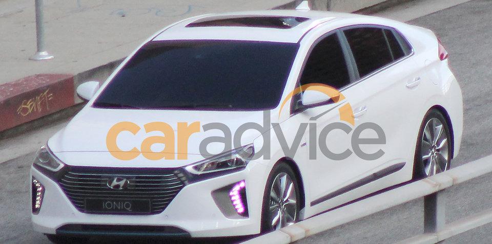 2016 Hyundai Ioniq hybrid spotted undisguised in USA
