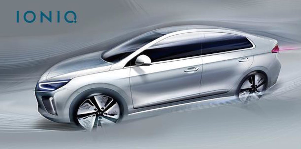 Hyundai Ioniq revealed further in new sketches