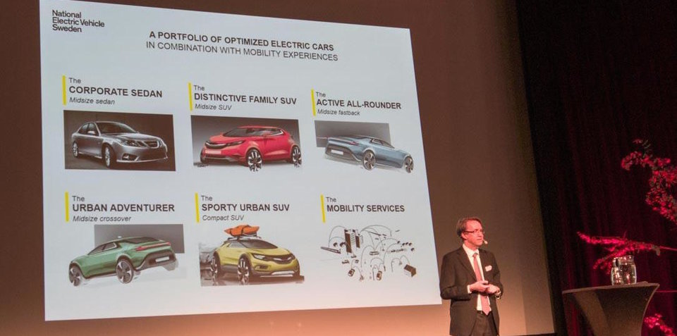 NEVS planning four all-new electric vehicles using Saab platform