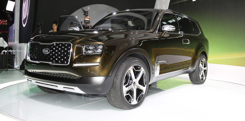kia telluride 298kw hybrid suv concept hits detroit show. Black Bedroom Furniture Sets. Home Design Ideas