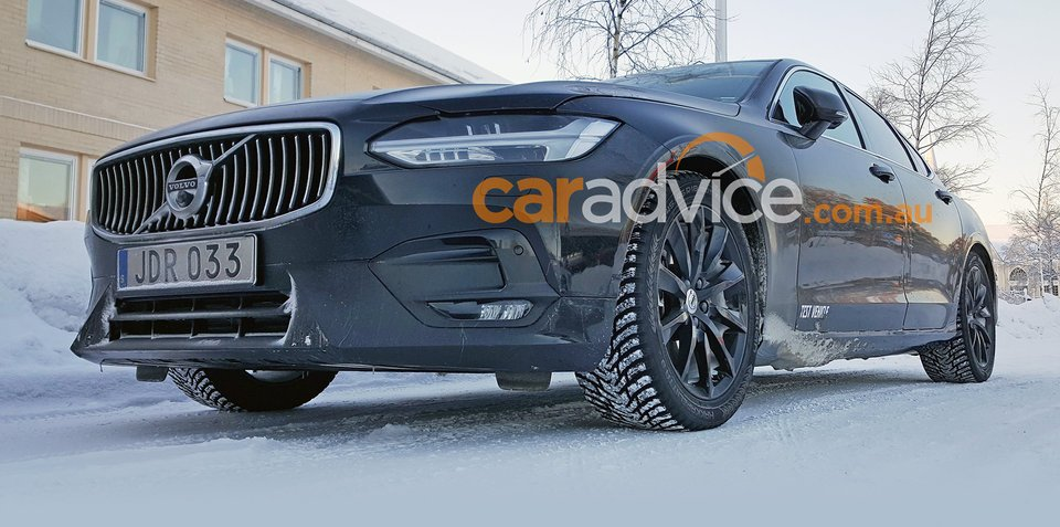 2017 Volvo S90 R-Design spied without disguise