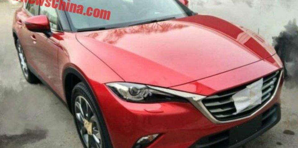 Mazda CX-6/CX-4 crossover spotted again
