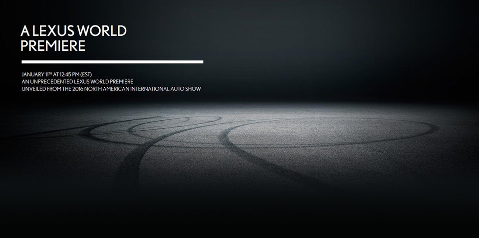 Lexus teases sporty Detroit debut:: LC coupe coming? - UPDATE