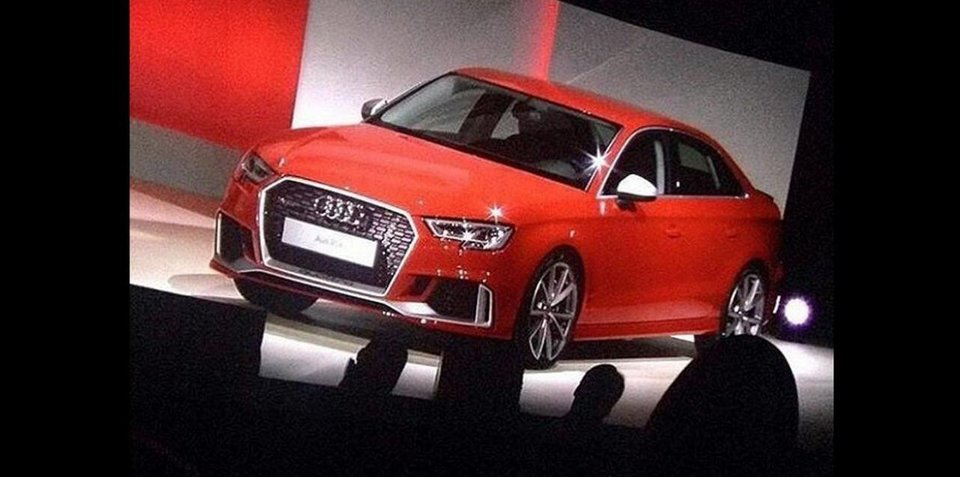2017 Audi RS3 sedan revealed at private function