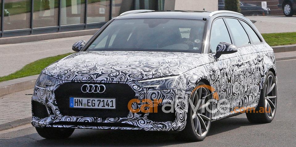 2017 Audi RS4 Avant spied testing