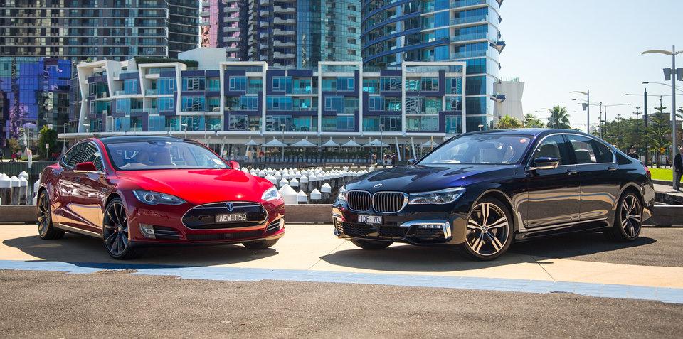 Luxury Vehicle: 2016 Tesla Model S P90D V BMW 730d Comparison