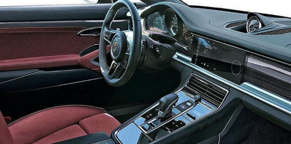 2017 Porsche Panamera interior revealed in leaked image?