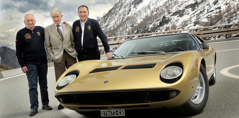 Lamborghini celebrates Miura's 50th birthday with 'Italian Job' road trip