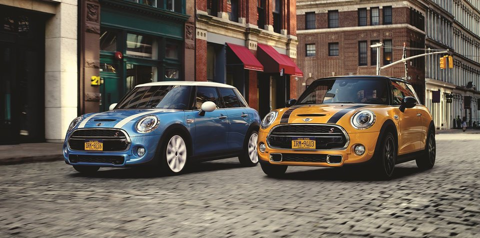 2016 mini cooper and cooper s hatch pricing and specifications. Black Bedroom Furniture Sets. Home Design Ideas