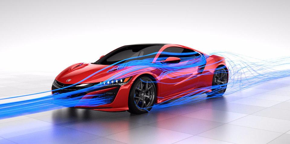 2017 Honda NSX aerodynamics detailed