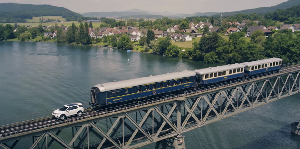 Land Rover Discovery Sport tows 108-tonne train