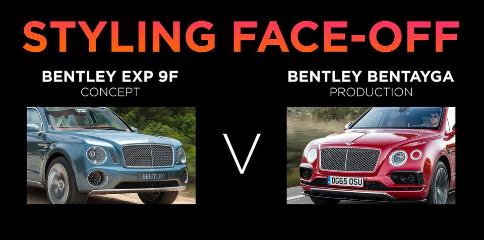 Bentley Bentayga v Bentley EXP 9F Concept: styling face-off