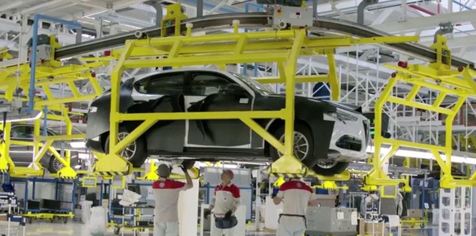 2017 Alfa Romeo Stelvio shown by accident in company video