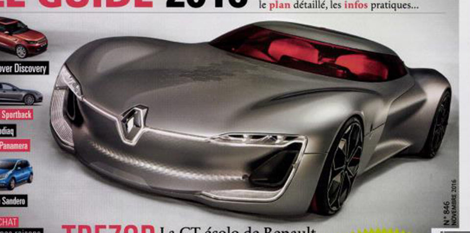 Renault Trezor concept revealed early in magazine leak