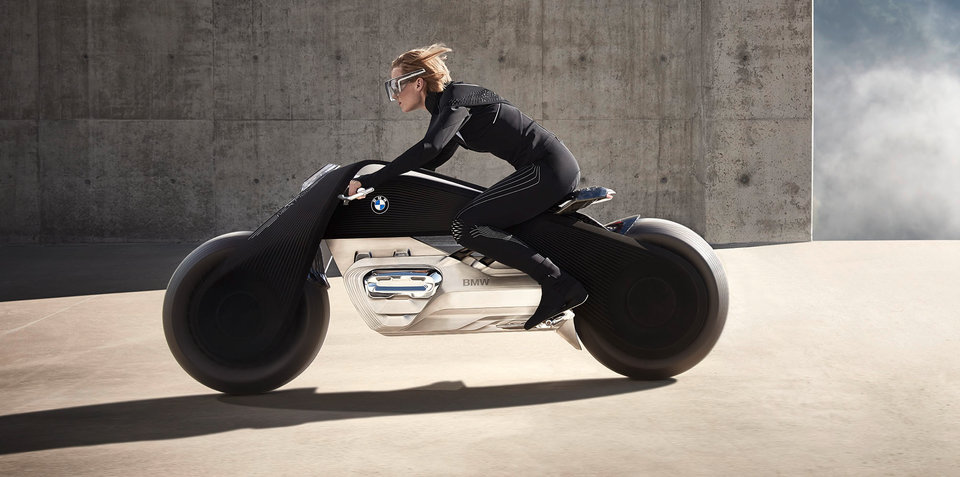 BMW Motorrad's Vision Next 100 is a self-balancing, augmented-reality motorbike