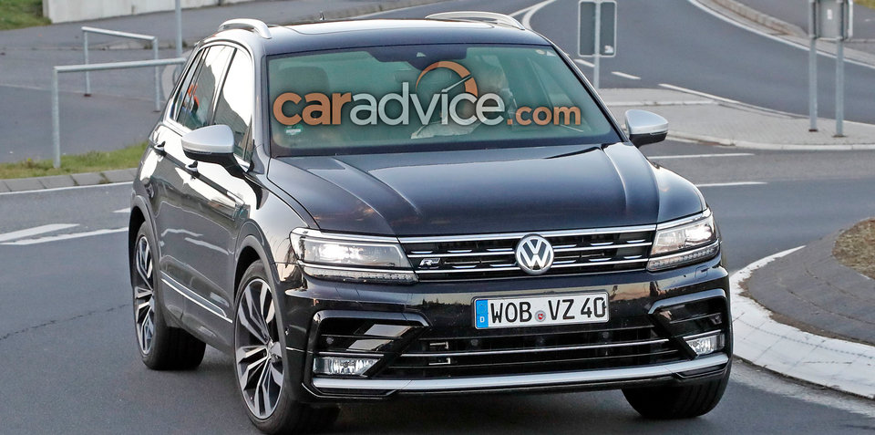 2017 Volkswagen Tiguan R potentially spied outside the Nurburgring