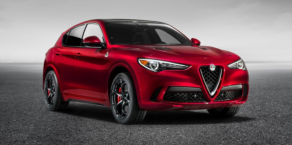 Alfa Romeo Stelvio Quadrifoglio revealed: Wraps come off 285km/h Italian SUV in LA