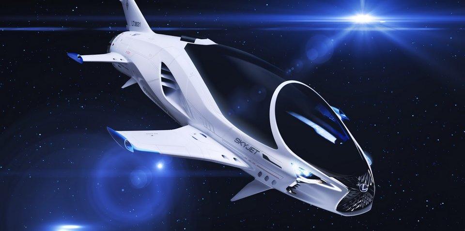 Lexus imagines a 'SkyJet' spaceship for upcoming sci-fi flick Valerian