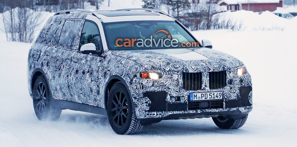 2018 bmw x7 spied again. Black Bedroom Furniture Sets. Home Design Ideas