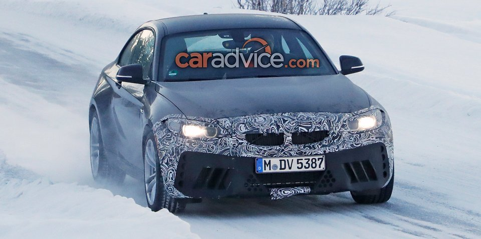 BMW M2 upgrade spied in the snow