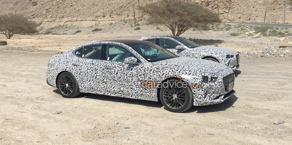 2018 Genesis G70 spied near Dubai, first interior shots snapped