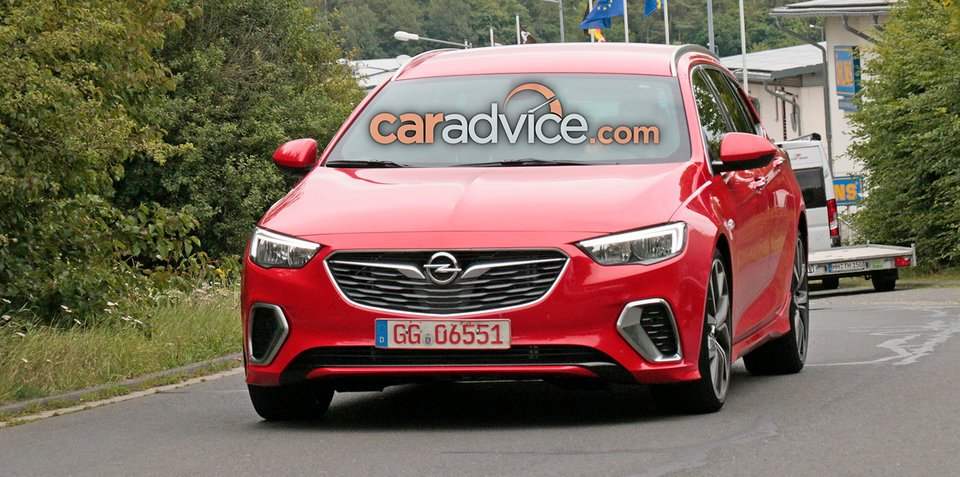 2018 Opel Insignia GSi Sports Tourer spied at the Nurburgring