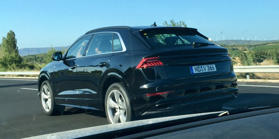 2018 Audi Q8 spied almost completely undisguised