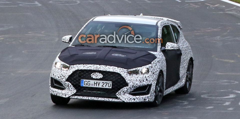 2019 Hyundai Veloster N spied with less camouflage