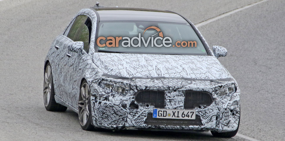 2019 Mercedes-AMG A45 spied