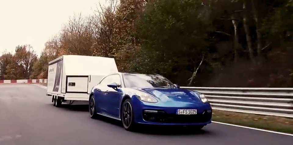Porsche tows its way to a new Nurburgring record