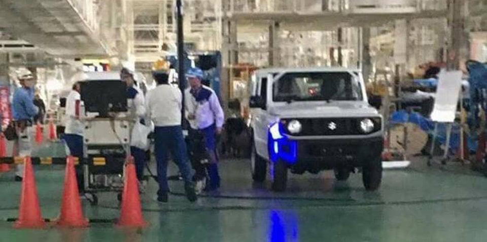 2018 Suzuki Jimny spied in factory